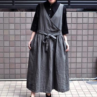 画像1: 【 SALE 】¥17,000→¥14,800 / ICHI Antiquite's(イチ アンティークス)/ リネン琴平炊きワンピース