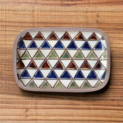 画像1: 一翠窯 / たたら長方皿(小)・三角