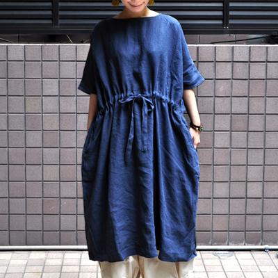 画像1: ICHI(イチ )/ リネン ワイドワンピース