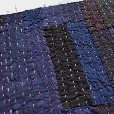 画像3: ヴィンテージカンタ 刺し子ランチョンマット(藍染)