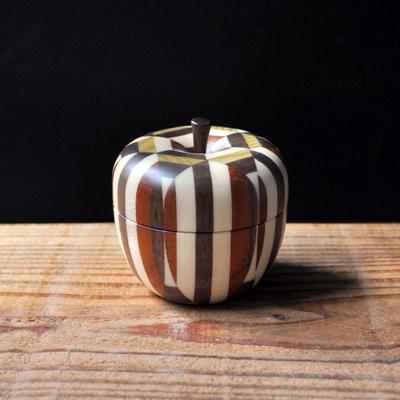 画像1: 金指勝悦 / リンゴの小物入れ( S )