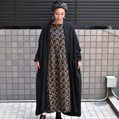 画像1: 【 SALE 】¥22,000→¥17,600 / ICHI Antiquite's(イチ アンティークス)/ クラシカルフラワーリネン ギャザーワンピース