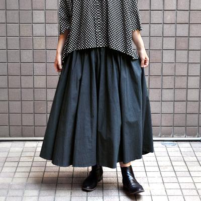 画像1: 【2020AW】FACTORY(ファクトリー)/ ペルー綿ブロード  サーキュラースカート