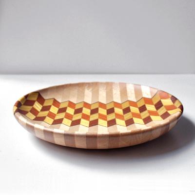 画像3: 金指勝悦 / 6.5寸 寄木盛り皿