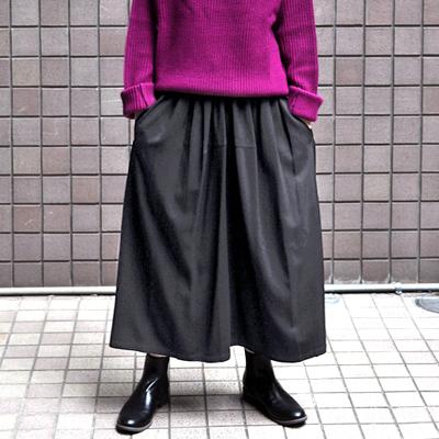 画像1: 【2020AW】FACTORY(ファクトリー)/ バンブーウール ギャザースカート