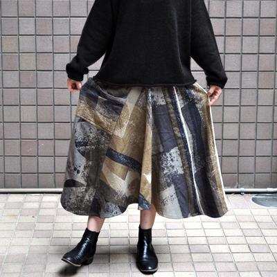 画像2: tamaki niime(玉木新雌) / only one chotan skirt : wool(オンリーワン チョタンスカート:ウール)