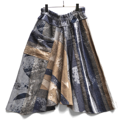 画像1: tamaki niime(玉木新雌) / only one chotan skirt : wool(オンリーワン チョタンスカート:ウール)