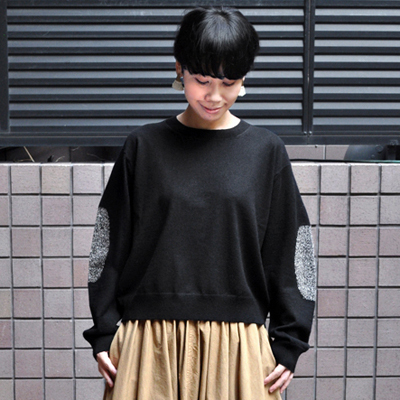 画像2: 【2020AW】FACTORY(ファクトリー)/ ヤク エルボーパッチセーター