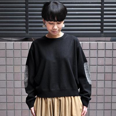 画像4: 【2020AW】FACTORY(ファクトリー)/ ヤク エルボーパッチセーター