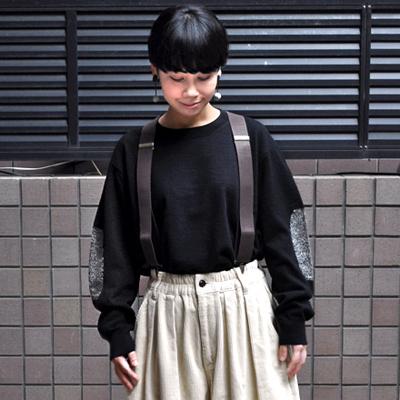 画像3: 【2020AW】FACTORY(ファクトリー)/ ヤク エルボーパッチセーター