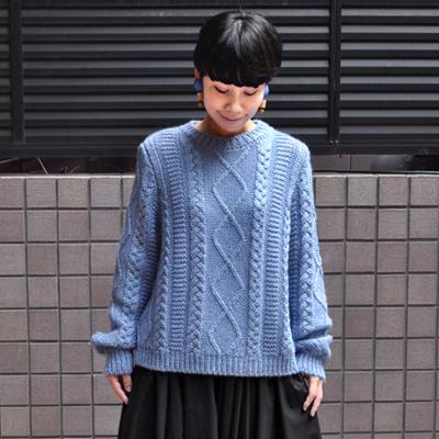 画像1: 【 SALE30%OFF 】¥20,900→¥14,630 / MAISON ANJE (メゾン オンジェ)/ LAMIRALE ケーブル編みセーター
