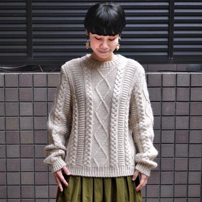画像3: 【 SALE30%OFF 】¥20,900→¥14,630 / MAISON ANJE (メゾン オンジェ)/ LAMIRALE ケーブル編みセーター
