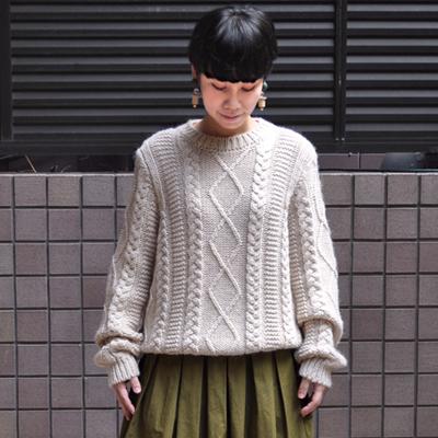 画像5: 【 SALE30%OFF 】¥20,900→¥14,630 / MAISON ANJE (メゾン オンジェ)/ LAMIRALE ケーブル編みセーター