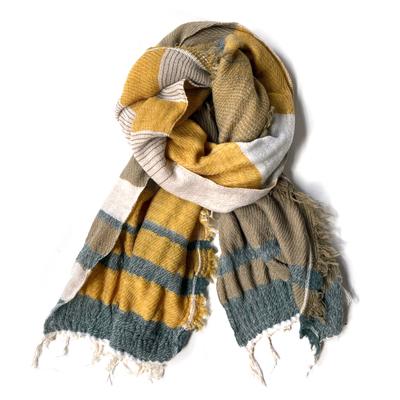 画像1: tamaki niime(玉木新雌) / Roots Shawl wool(ルーツショール:ウール)リバーシブルタイプ・middle(中判サイズ)