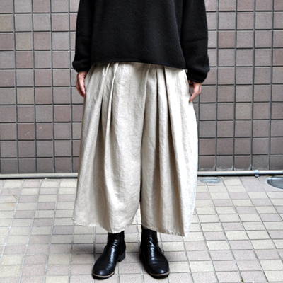 画像1:  【 SALE25%OFF 】¥26,000→¥19,500 / FACTORY(ファクトリー)/ 綿麻 朱子織 タックバルーンパンツ