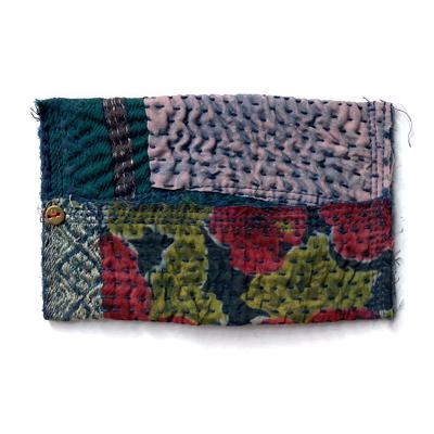 画像2: vintage kantha Pocket tissue cover / ヴィンテージカンタ ポケットティッシュカバー(藍染)
