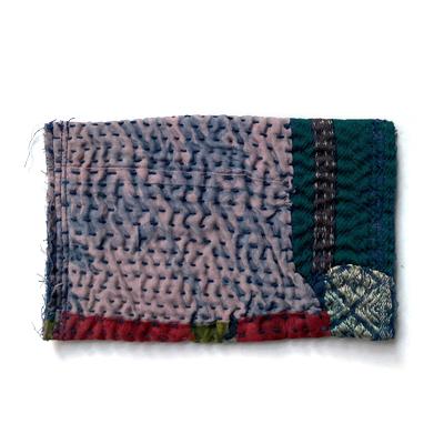 画像3: vintage kantha Pocket tissue cover / ヴィンテージカンタ ポケットティッシュカバー(藍染)