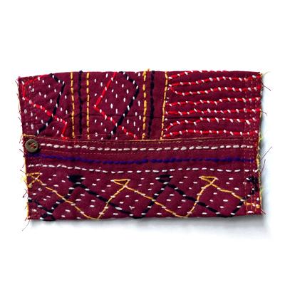 画像2: cotton kantha Pocket tissue cover / コットンカンタ ポケットティッシュカバー