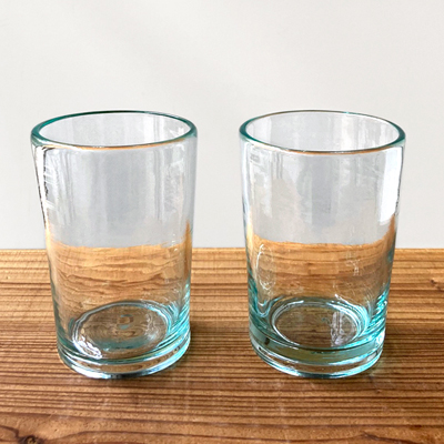 画像1: 奥原硝子製造所(琉球ガラス) / 4半コップ・ライトラムネ