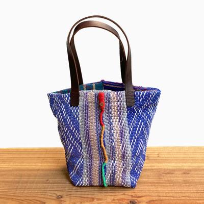 画像1: vintage kantha ralli quilt bag / ヴィンテージカンタ ラリーキルト スクエアバッグ・S