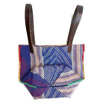 画像5: vintage kantha ralli quilt bag / ヴィンテージカンタ ラリーキルト スクエアバッグ・S