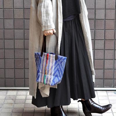 画像2: vintage kantha ralli quilt bag / ヴィンテージカンタ ラリーキルト スクエアバッグ・S