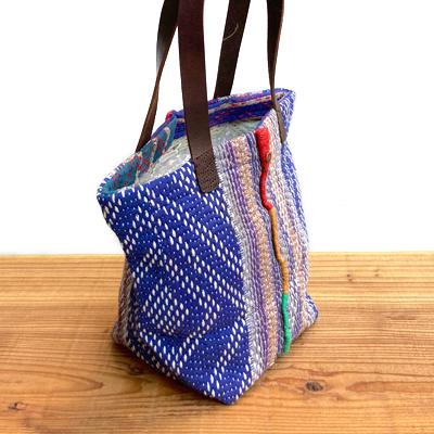 画像3: vintage kantha ralli quilt bag / ヴィンテージカンタ ラリーキルト スクエアバッグ・S