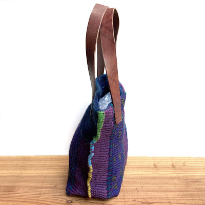 画像4: vintage kantha ralli quilt bag / ヴィンテージカンタ ラリーキルト トートバッグ( S・藍染 )