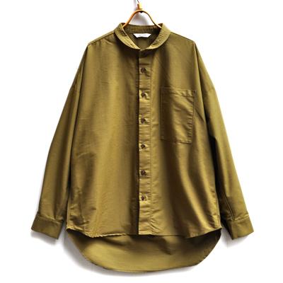 画像1: HARVESTY(ハーベスティ)/ クールマックス ラウンドカラー ビッグシャツ