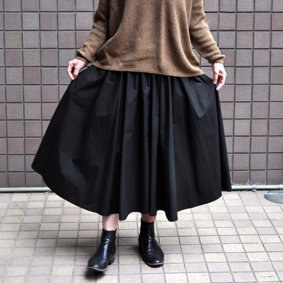 画像3: 【2021SS】FACTORY(ファクトリー)/ ペルー綿高密度ブロード  サーキュラースカート