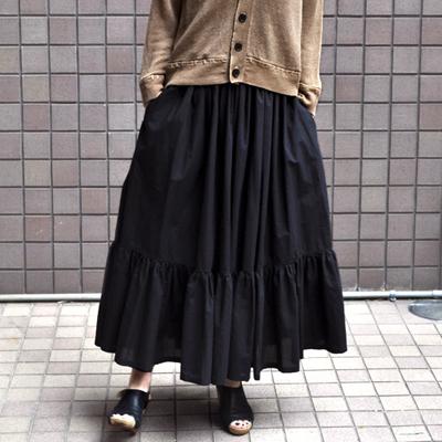 画像1: 【 SALE25%OFF 】¥23,100→¥17,325/ FACTORY(ファクトリー)/ ペルー綿 ティアードスカート