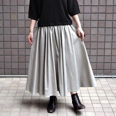 画像1: 【別注アイテム】FACTORY(ファクトリー)/ ペルー綿 ピンストライプサーキュラースカート