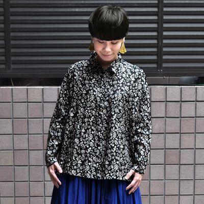 画像3: ICHI Antiquite's(イチ アンティークス)/ リネンフラワー ワイドギャザーシャツ