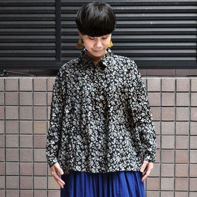 画像2: ICHI Antiquite's(イチ アンティークス)/ リネンフラワー ワイドギャザーシャツ