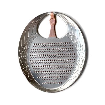 画像1: 大矢製作所 / 純銅製 卓上おろし金・ツル型 (薬味おろし)