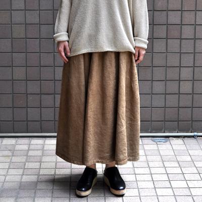 画像1: 【2021SS】FACTORY(ファクトリー) / アイリッシュリネン コクーンスカート