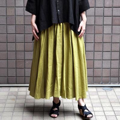 画像1: 【別注アイテム】FACTORY(ファクトリー)/ フランスリネン サーキュラースカート