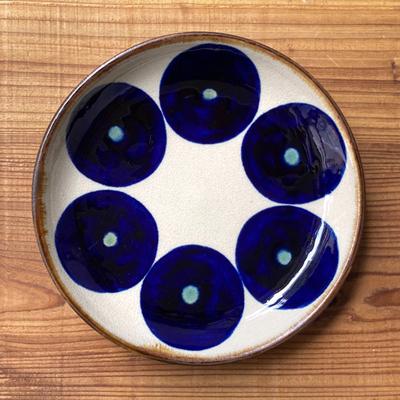 画像1: エドメ陶房 / 7寸皿(丸紋)