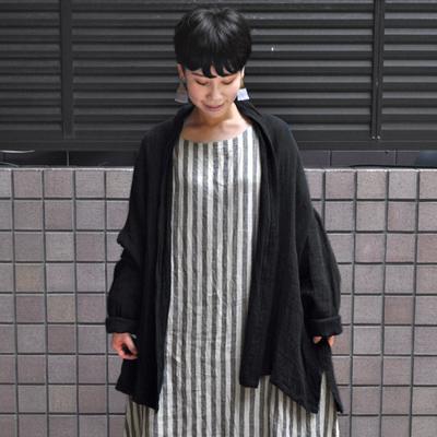 画像1: 【 SALE20%OFF 】¥17,600→¥14,080 / ICHI Antiquite's(イチ アンティークス)/ 東炊きリネン ショートローブ